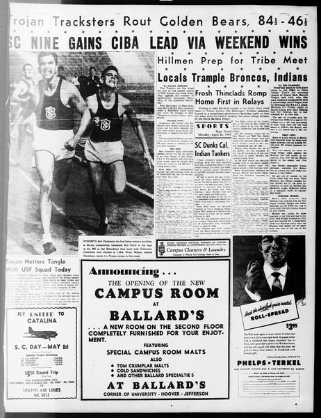 Daily Trojan, Vol. 40, No. 125, April 25, 1949