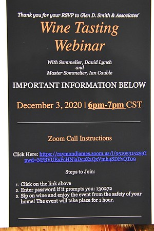 12-3-2020 Glen D Smith Wine Tasting Webinar