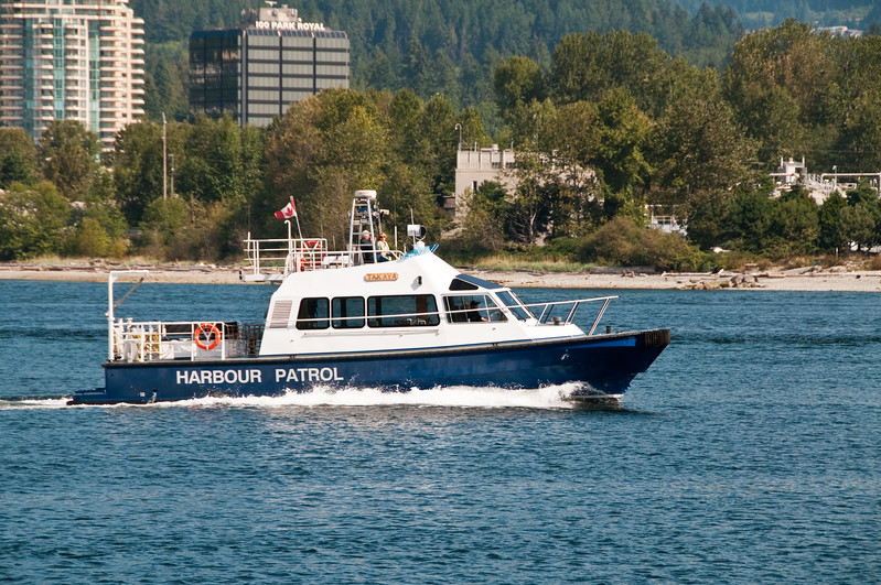 Patrolling the waters off Stanley Park.