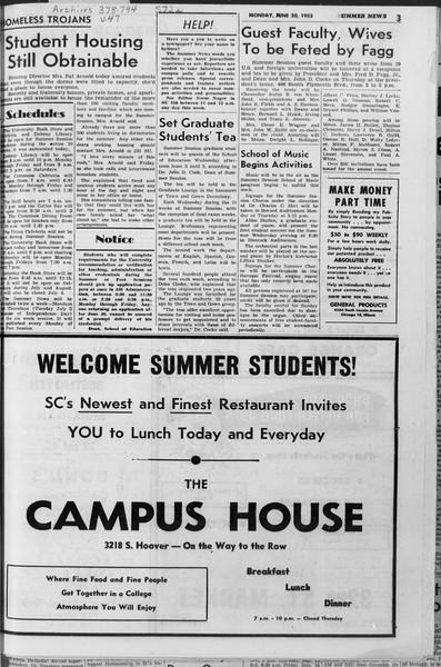 Summer News, Vol. 10, No. 1, June 20, 1955
