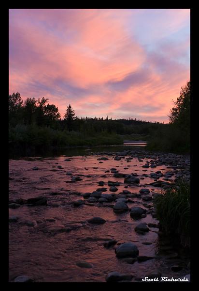 Sunset meets creek
