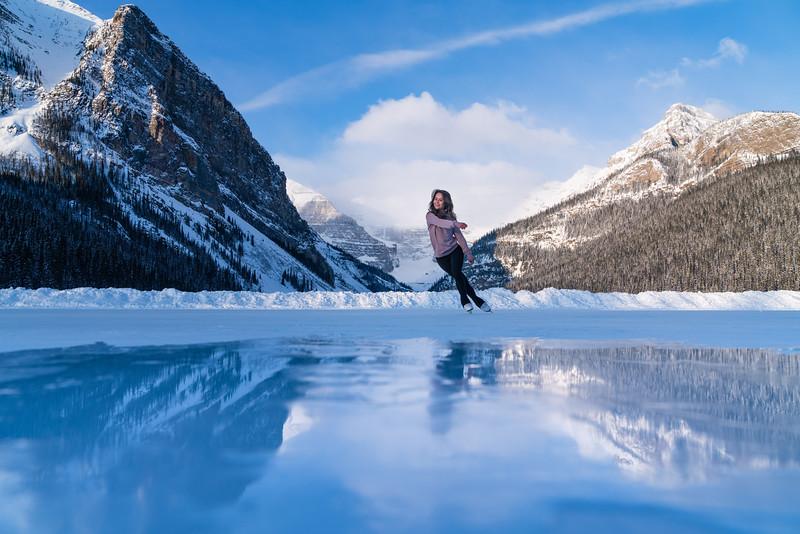 Figure Skating Lake Louise April 2021