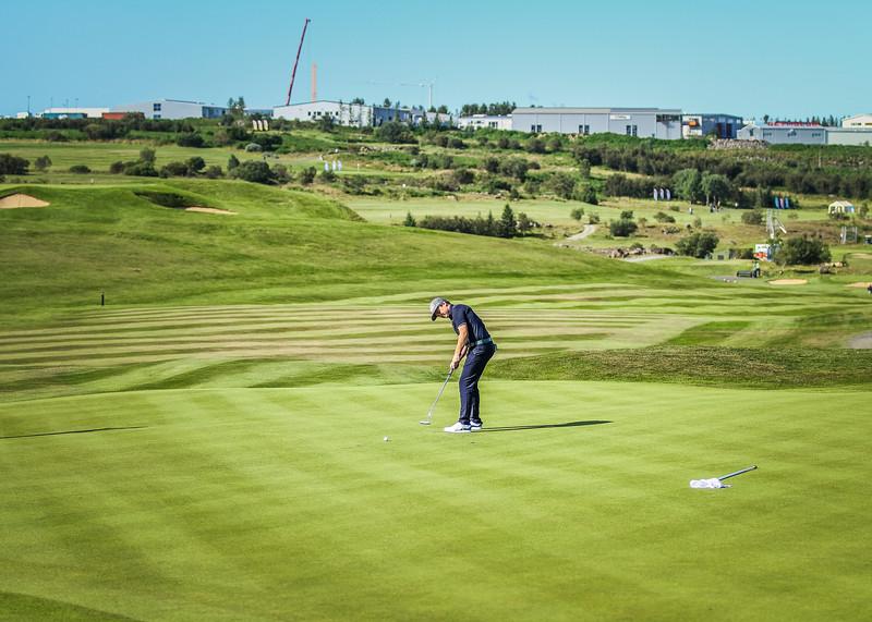Logi Sigurðsson.  Íslandsmót í golfi 2019 - Grafarholt 2. keppnisdagur Mynd: seth@golf.is