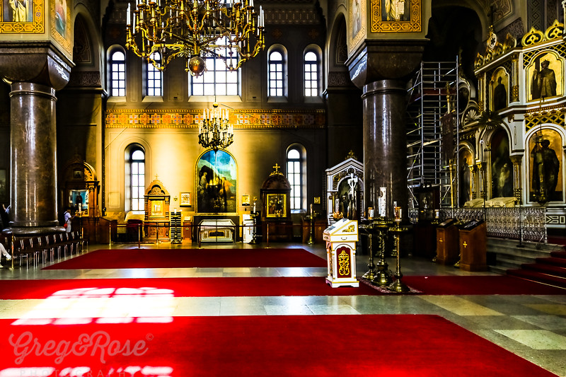 The interior of Upenski Cathedral