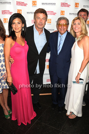 "Hilaria Thomas Baldwin, Alec Baldwin, Tony Bennett, and Susan Benedetto attend The HIFF Summerdoc screening of ""The Zen of Bennett""  at Guild Hall iin East Hampton. (August 13, 2012)