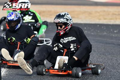 Go Quad Racer # 46 Black_White Helmet