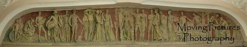 Lunette (detail in archway) in foyer of Hughes High School, Cincinnati