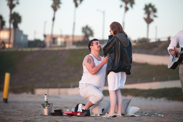 Gemma and Andrew Proposal - Torrance Beach, CA