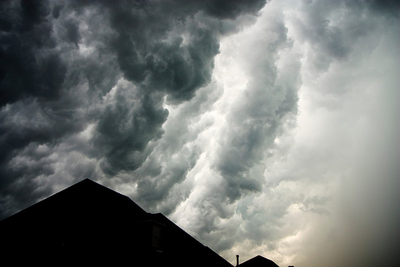 The Heavens Fury.  Some interesting thunderstorm clouds.