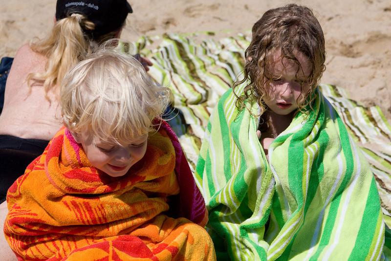 Burrito children warm up