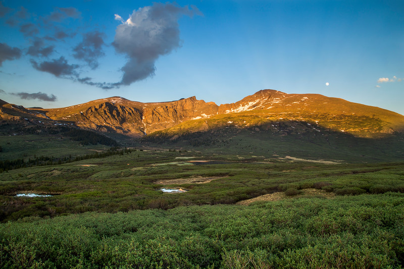 Mount Bierstadt at Sunset from Guanella Pass