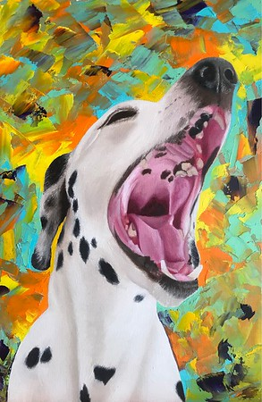 """The Hurricane Blows Away The Spots"" (oil on canvas) by Svetlana Gavrilenko"