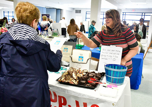 4/6/2019 Mike Orazzi | Staff Pick Me Up's Kristina Fuggetta during the 5th Annual Connecticut Prime Time Senior Fair Saturday at Bristol Eastern High School.