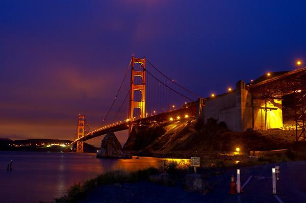 Golden Gate Bridge - Sunset and Night shots