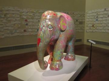 Triumph of Unity on display for Elephant Parade at the Asian Civilization Museum of Art - Singapore.