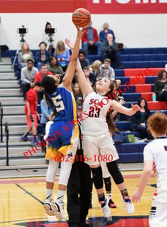 1-18-2017 - Scottsdale Christian Academy (SCA) v Pima - Girls Basketball
