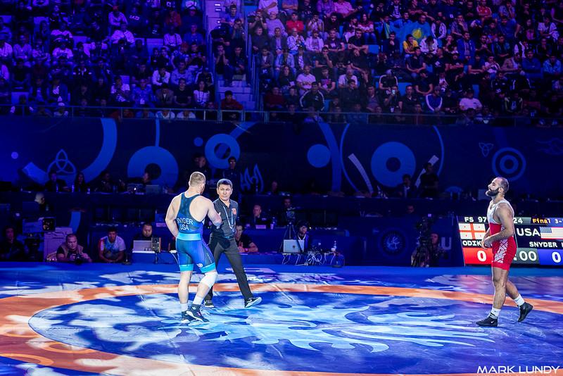 3rd Place Match: Kyle Frederick Snyder (United States) over Elizbar Odikadze (Georgia)  •  Dec 5-0 - 2019 World Championships