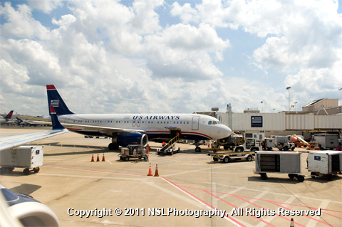 US Airways plane, photography by NSL Photography