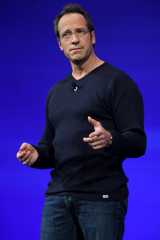 . Mike Rowe is shown during Discovery Channel\'s 2010-11 upfront presentation in New York. Rowe is an Eagle Scout. (AP Photo/Mary Altaffer, File)