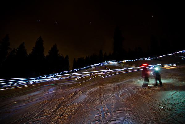 Ski Hill Memorial Torch Light Run with Welcome Star