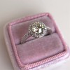 1.19ctw Old European Cut Diamond Halo Ring by A Jaffe 5