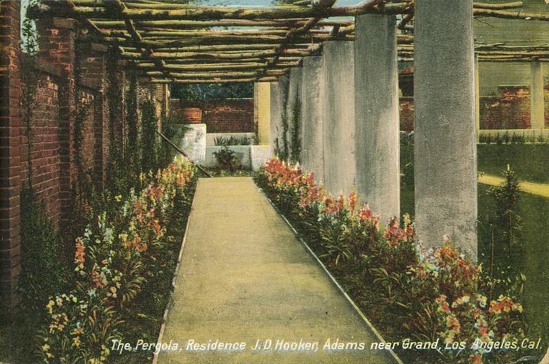 The Pergola, residence J.D. Hooker, Adams near Grand, Los Angeles, California.
