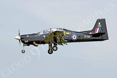 Flying British RAF Embraer EMB-312 Tucano Airplane Pictures