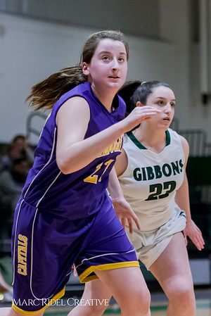 Broughton girl's JV basketball vs. Cardinal Gibbons. February 1, 2018.