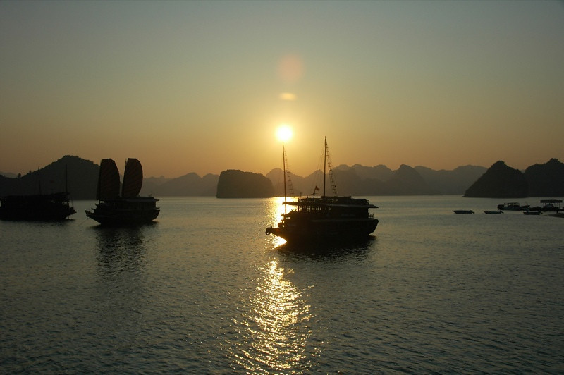 Sunset Over Halong - Halong Bay, Vietnam