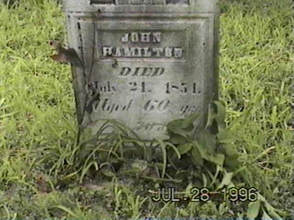 John Hamilton Grave