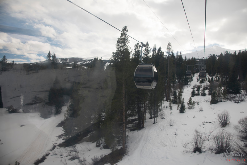 Gondola to the base of the Breckenridge Ski Resort