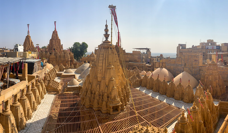 Jaisalmer has a population of about 65,000 people. This was the view from my guest house; the rooftops of a Jain temple nextdoor.