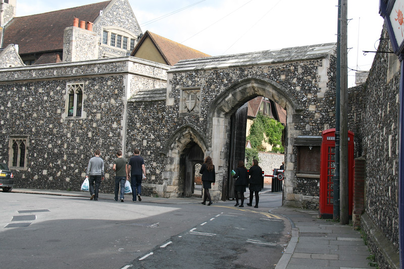 The Entrance To Canterbury Cathedral
