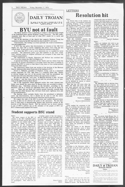 Daily Trojan, Vol. 62, No. 52-A, December 11, 1970