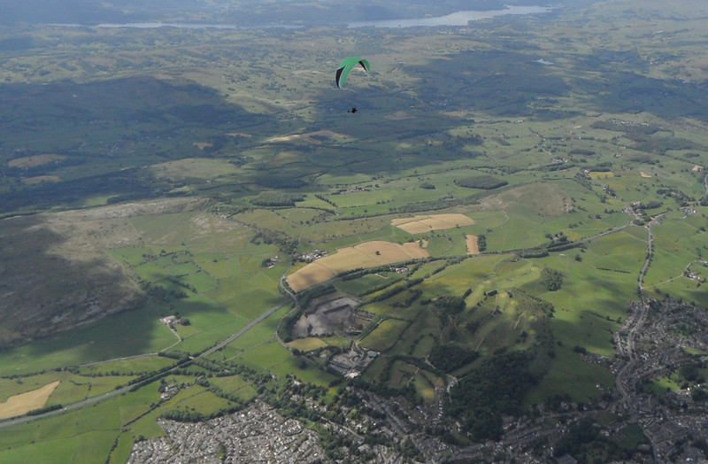 Climbing, but going nowhere over Kendal.