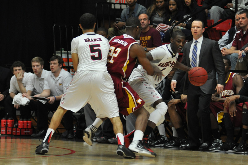 Donta Harper uses a pick against Winthrop University Tuesday February 19, 2013.