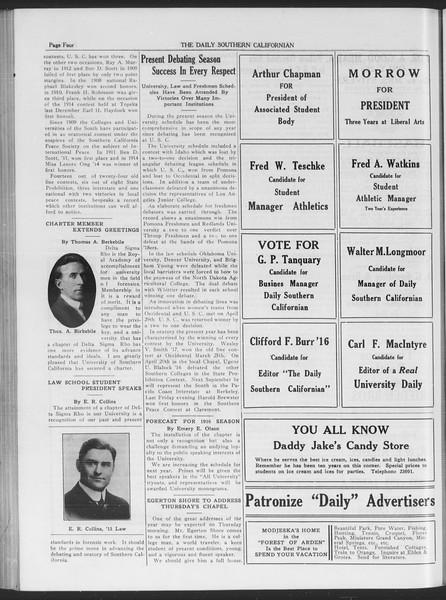 The Daily Southern Californian, Vol. 6, No. 26, May 18, 1915