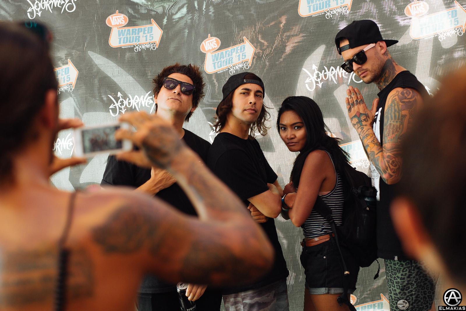 Pierce the Veil and fan at Warped Tour 2015 by Adam Elmakias
