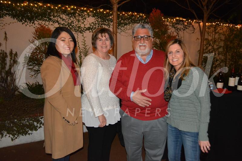 LCHS Assistant Principal Kip Glazer, Ellen and state Sen. Anthony Portantino, and Becky Desouza