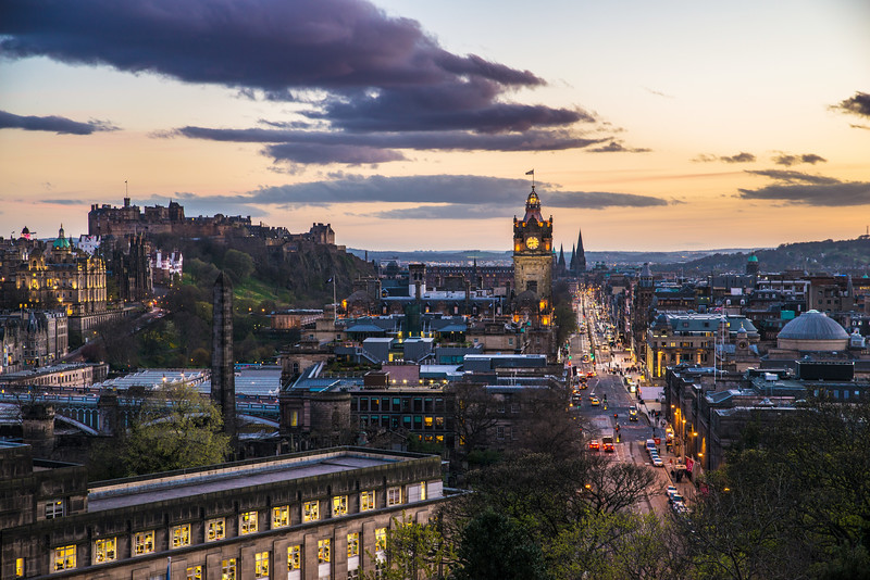 Down Princes Street at Dusk