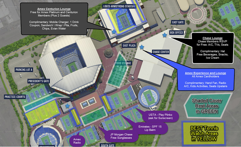 US Open 2018 Map - Freebies and Cool Areas on Grounds.jpg