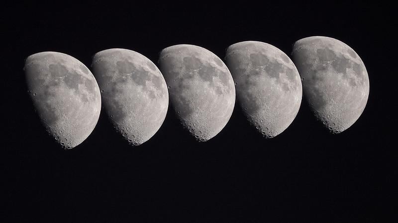 Gibbous moon kiss