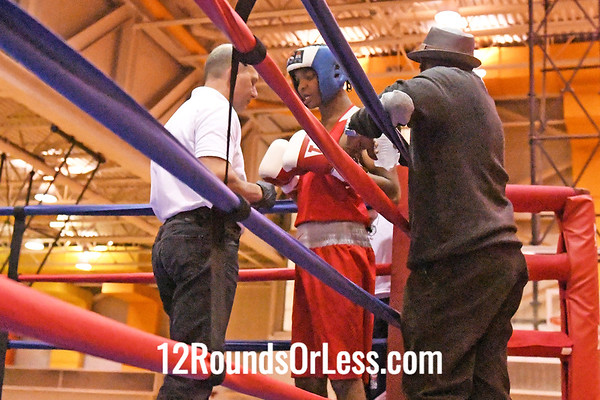 Bout #13: Jarrell Haadi, Blue Gloves, Rochester, NY -vs- Elliot Davis, Red Gloves, Cleveland, 141 Lbs.