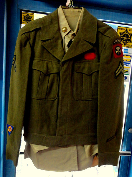 Complete Army Airborne Military Uniform including Dress Pants & Belt.  We have several complete sets available.  $65