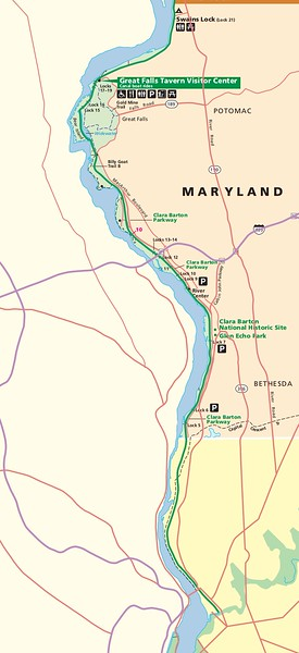 Chesapeake & Ohio Canal National Historical Park (MP 0 to MP 16.7 Map)