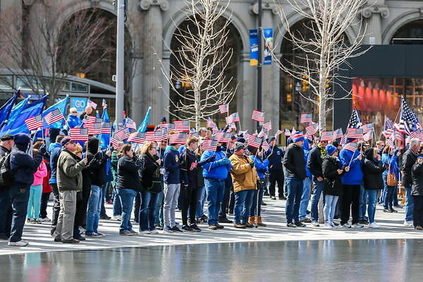 Sea of Blue Rally - Public Square Cleveland