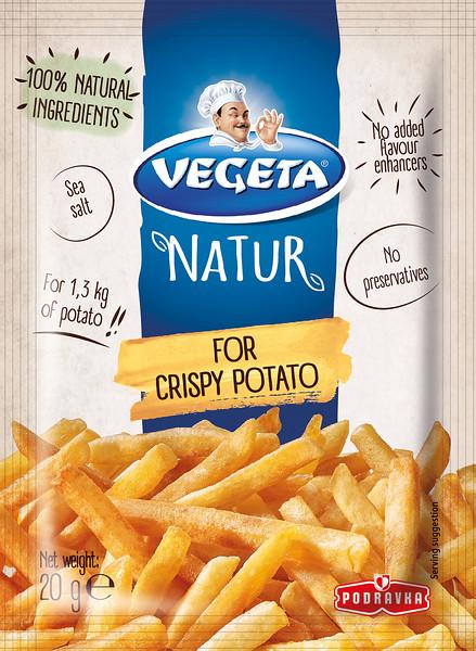 267499 PODRAVKA Vegeta Natur maitseaine krõbedale kartulile 20g 3850104284755