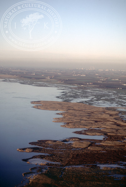 Salt marsh landscape in the southern part of the Öresund, between Hammarsnäs to Tygelsjö meadows in Southwest Skåne (12 December, 1987). | LH.0145