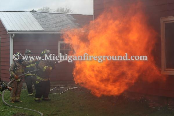5/4/18 - Michigan State Police live burn training - 2595 Dietz Rd
