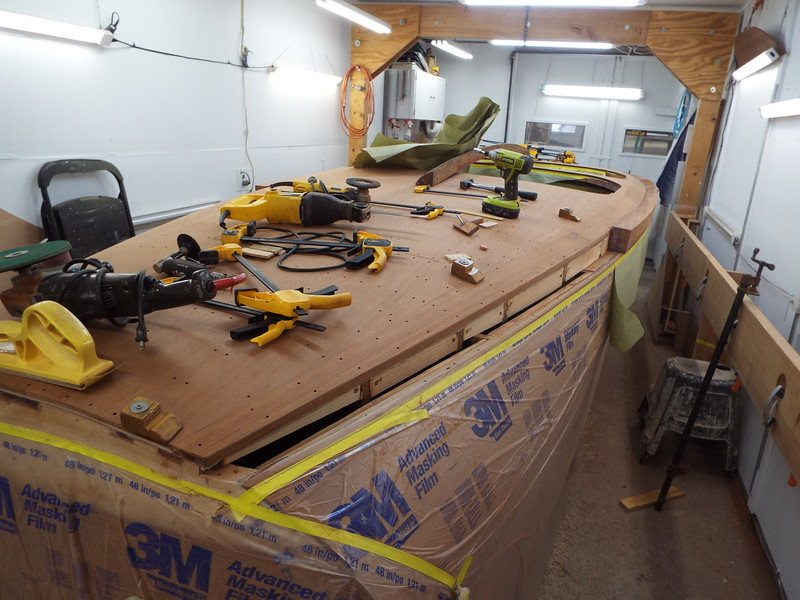 Ready to start fitting the rear section of the starboard cover board.